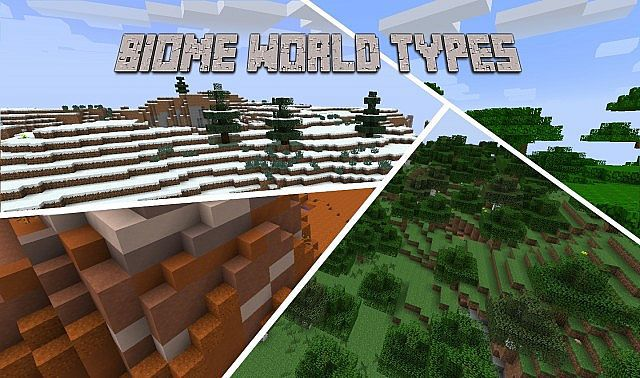 Biome-World-Types-Mod Biome World Types Mod