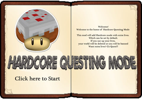 Hardcore-Questing-Mode-Mod-1.10.21.9.4 Hardcore Questing Mode Mod 1.10.2/1.9.4