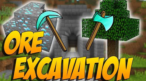Ore-Excavation-Mod-1.10.21.7.10 Ore Excavation Mod 1.10.2/1.7.10