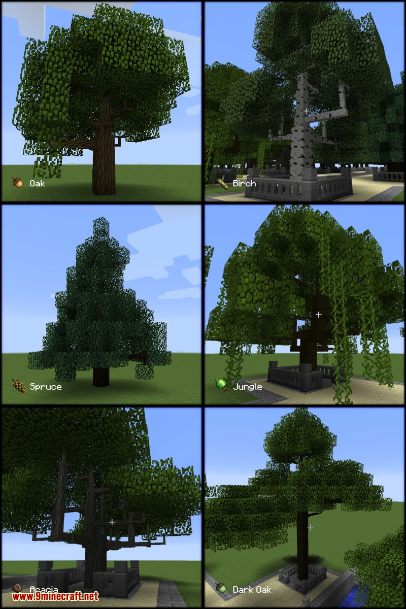 Growing-Trees-Mod-1.7.10 Growing Trees Mod 1.7.10