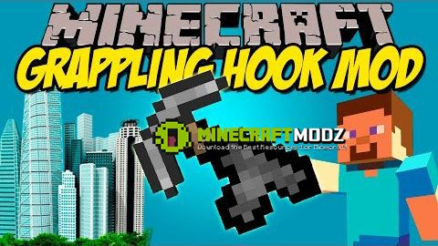 Grappling-Hook-Mod Grappling Hook Mod 1.11/1.10.2/1.9.4/1.8.9