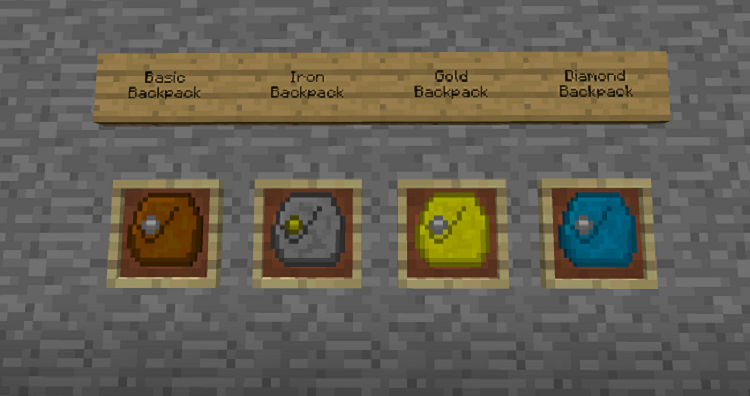 Iron-Backpacks-Mod-3 Iron Backpacks Mod 1.10.2/1.8.9/1.7.10