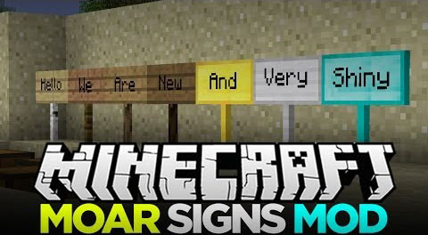 MoarSigns-Mod MoarSigns Mod 1.10.2/1.9.4/1.8.9/1.7.10