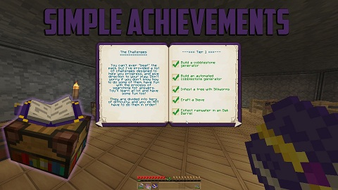 Simple-Achievements-Mod Simple Achievements Mod 1.10.2/1.9.4/1.7.10