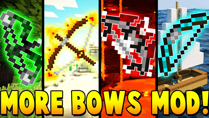 Switch Bow Mod 1.11.2/1.10.2 for Minecraft