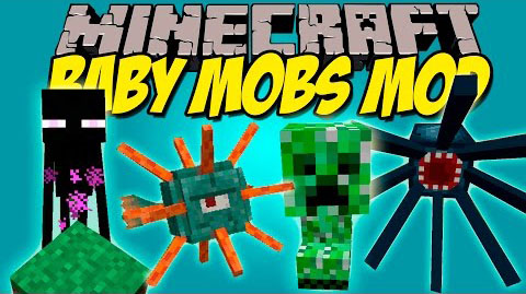 Baby-Mobs-Mod Baby Mobs Mod 1.11.2/1.10.2/1.9.4/1.8.9