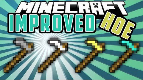 Improved-Hoes-Mod Improved Hoes Mod 1.11.2/1.10.2/1.9.4/1.7.10