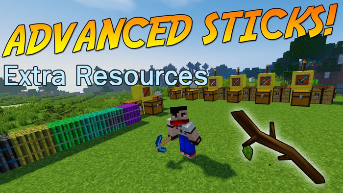 advanced-sticks-extra-resources-mod-1-11-21-10-2 Advanced Sticks Extra Resources Mod 1.11.2/1.10.2