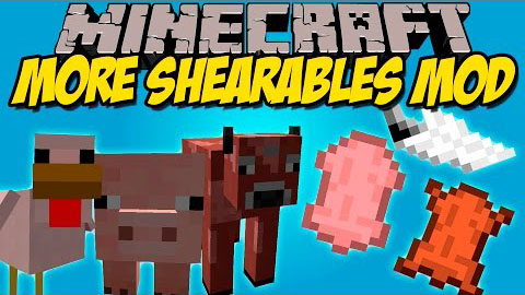 more-shearables-mod-1-11-21-10-2-shear-chicken-cows-pigs More Shearables Mod 1.11.2/1.10.2 (Shear Chicken, Cows, Pigs)