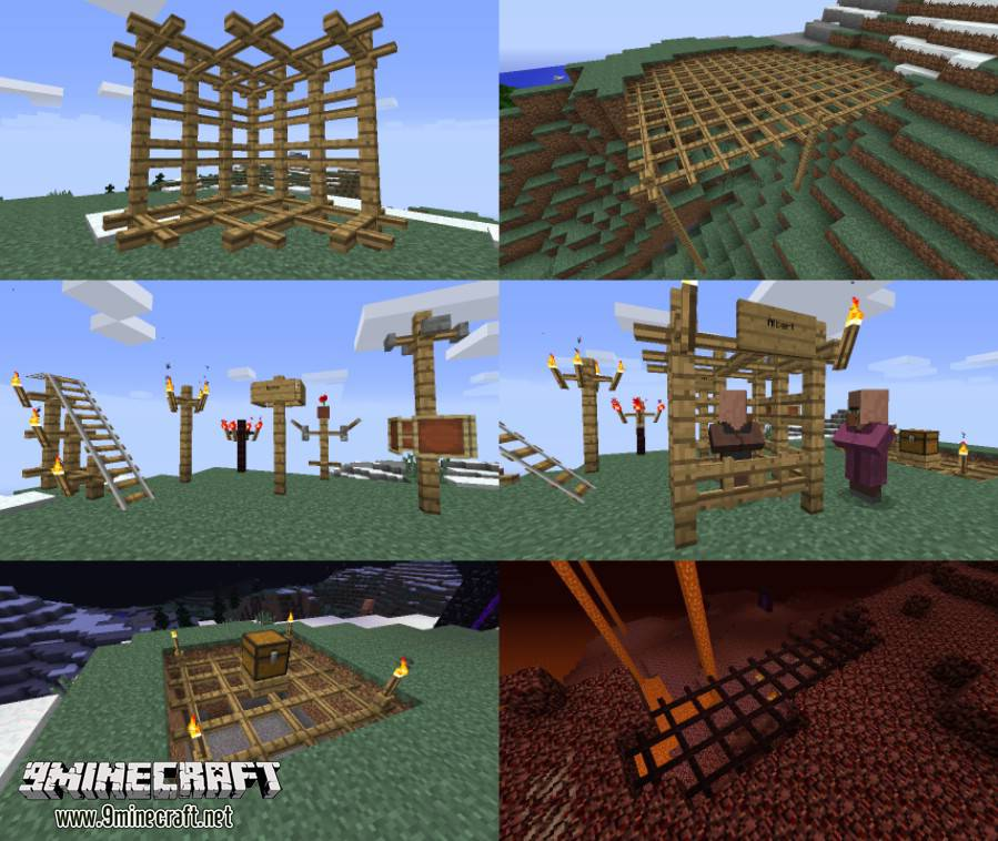 1489478360_278_lattice-mod-1-10-21-7-10-horizontal-fences Lattice Mod 1.10.2/1.7.10 (Horizontal Fences)