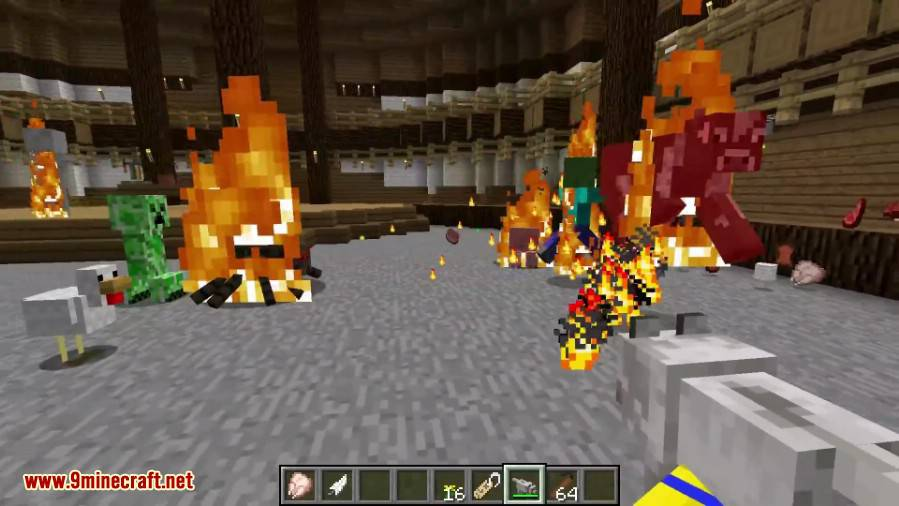 1490174349_553_bee-barker-mod-1-10-2-a-wolf-flame-thrower Bee Barker Mod 1.10.2 (A Wolf Flame-Thrower)