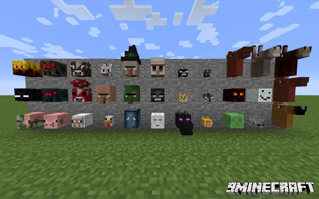 1490606613_571_headcrumbs-mod-1-10-21-7-10-youtuber-mobs-heads Headcrumbs Mod 1.10.2/1.7.10 (Youtuber, Mobs Heads)