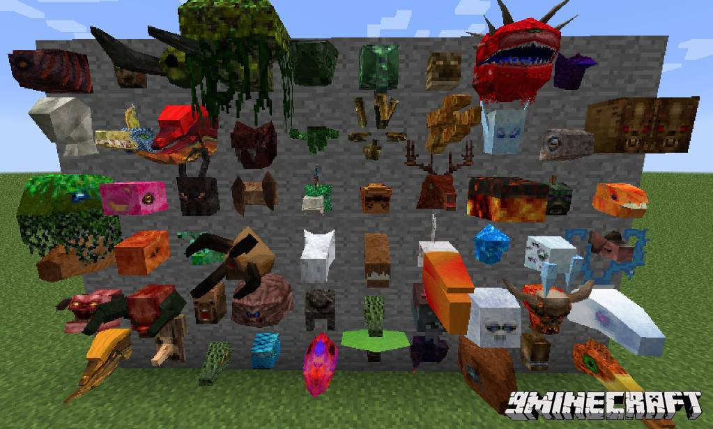 1490606615_835_headcrumbs-mod-1-10-21-7-10-youtuber-mobs-heads Headcrumbs Mod 1.10.2/1.7.10 (Youtuber, Mobs Heads)
