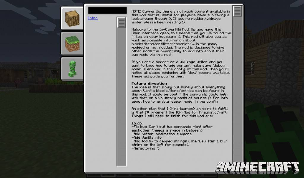 1490871574_415_in-game-wiki-mod-1-10-21-7-10-gui-in-minecraft In-Game Wiki Mod 1.10.2/1.7.10 (GUI in Minecraft)