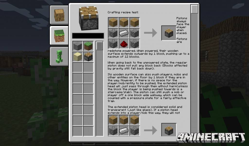 1490871575_328_in-game-wiki-mod-1-10-21-7-10-gui-in-minecraft In-Game Wiki Mod 1.10.2/1.7.10 (GUI in Minecraft)