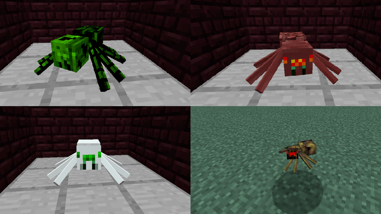 1490872147_468_much-more-spider-v2-mod-1-11-21-10-2-for-minecraft Much More Spider v2 Mod 1.11.2/1.10.2 for Minecraft