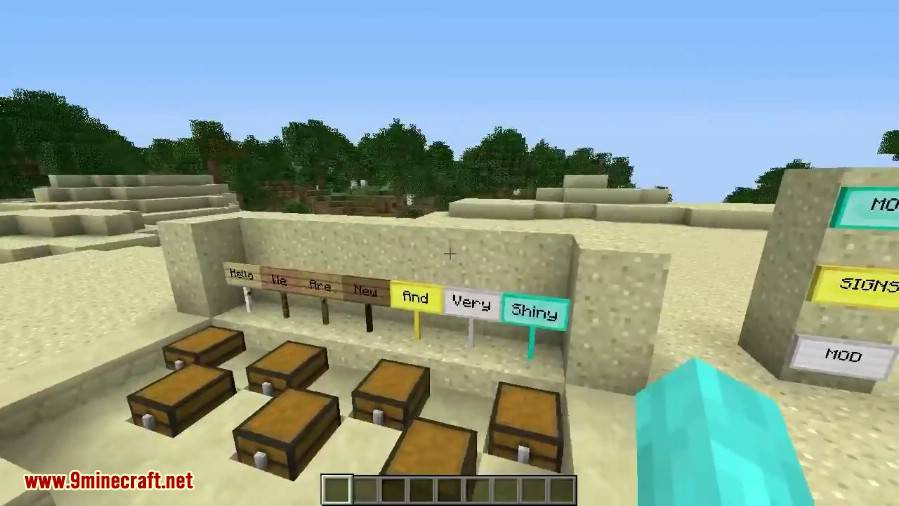 1490889938_684_moarsigns-mod-1-10-21-7-10-emerald-diamond-signs MoarSigns Mod 1.10.2/1.7.10 (Emerald, Diamond Signs)