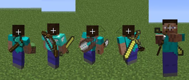 back-tools-mod-1-10-21-7-10-wear-weapons-and-tools Back Tools Mod 1.10.2/1.7.10 (Wear Weapons and Tools)