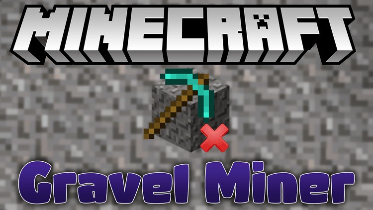gravel miner mod for minecraft logo