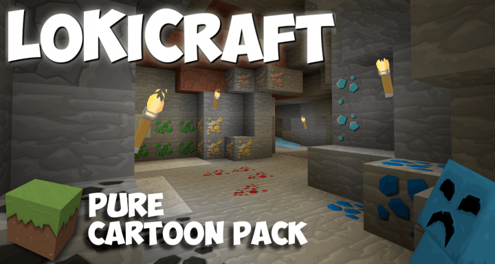 LoKiCraft Pure Cartoon Resource Pack Logo