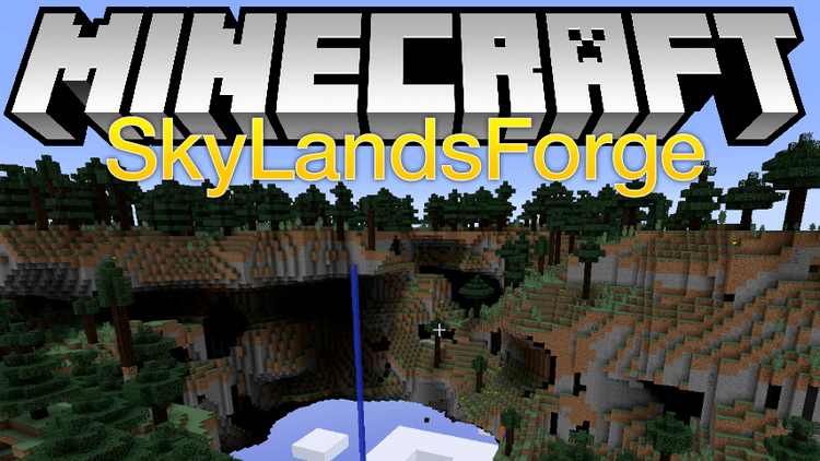 SkyLands Forge mod for minecraft logo
