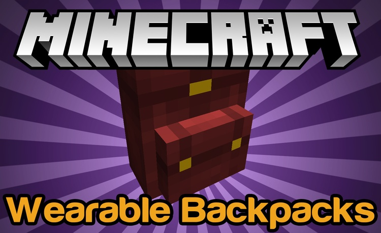 wearable-backpacks-mod-1-11-21-10-2-for-minecraft Wearable Backpacks Mod 1.11.2/1.10.2 for Minecraft