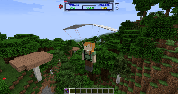 1492270863_732_parachute-mod-1-11-21-10-2-for-minecraft Parachute Mod 1.11.2/1.10.2 for Minecraft