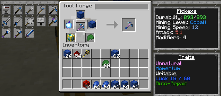 how to add more modifiers in tinkers construct 1.10.2