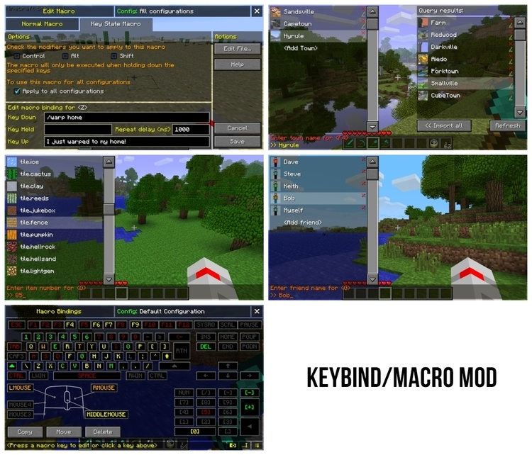 Macro / Keybind Mod 1.11.2/1.10.2 For Minecraft