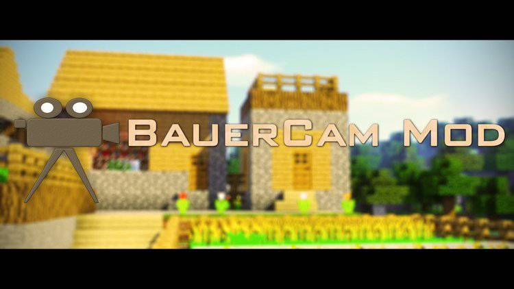 BauerCam mod for minecraft logo