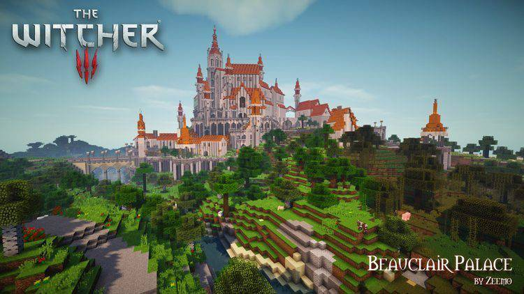 Beauclair Palace Map For Minecraft - Maps fur minecraft 1 10