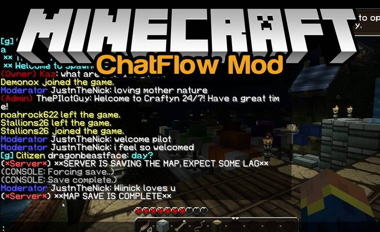 ChatFlow Mod for Minecraft Logo