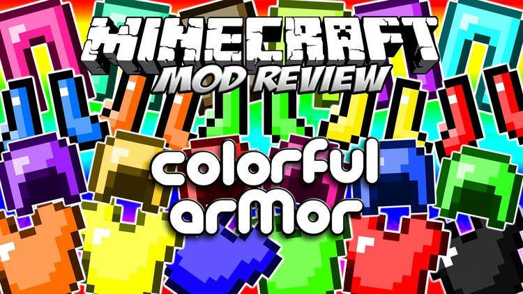 colorful armor mod for minecraft logo