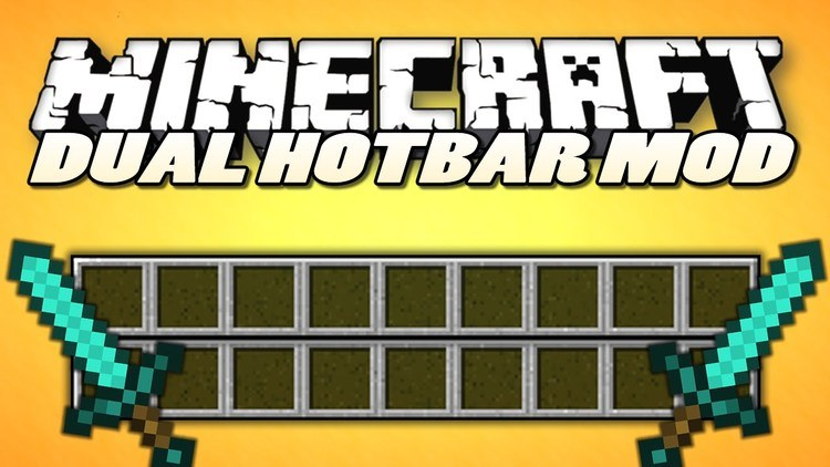 Dual Hotbar Mod for Minecraft Logo