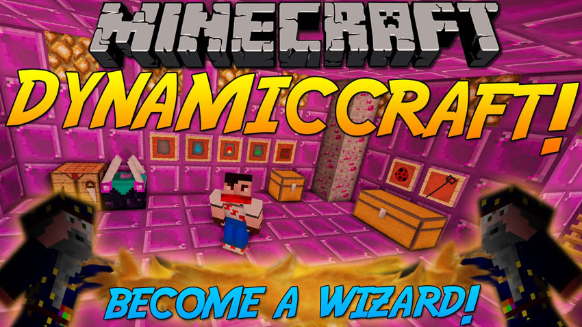 dynamiccraft-mod-1-7-10-become-a-wizard DynamicCraft Mod 1.7.10 (Become a Wizard)