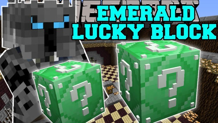 emerald-lucky-block-mod-1-11-21-10-2-for-minecraft Emerald Lucky Block Mod 1.11.2/1.10.2 for Minecraft