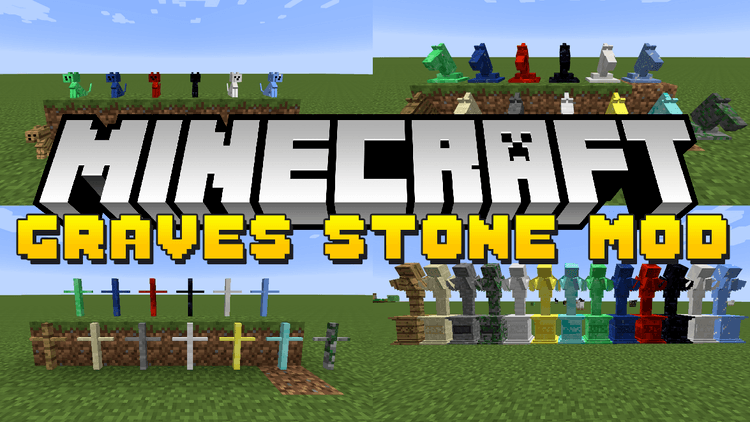 gravestone-mod-1-11-21-10-2-for-minecraft GraveStone Mod 1.11.2/1.10.2 for Minecraft