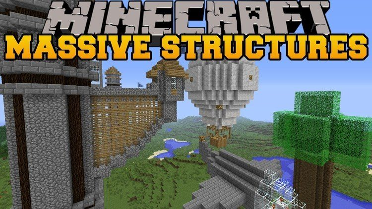 Instant Massive Structures Mod for Minecraft logo