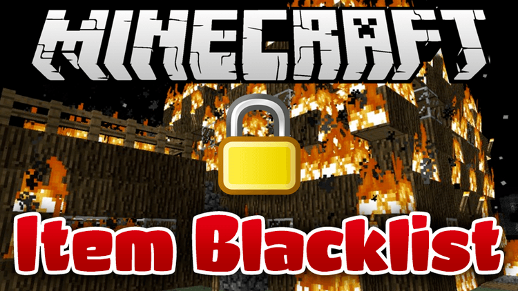 item-blacklist-mod-1-11-21-10-2-for-minecraft Item Blacklist Mod 1.11.2/1.10.2 for Minecraft