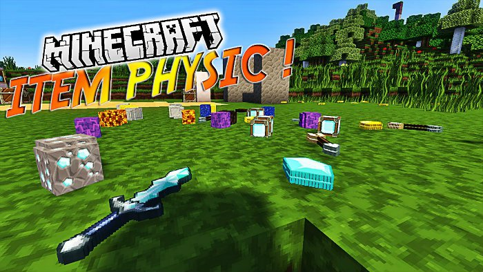 itemphysic-mod-for-minecraft-1-11-21-10-2 ItemPhysic Mod for Minecraft 1.11.2/1.10.2