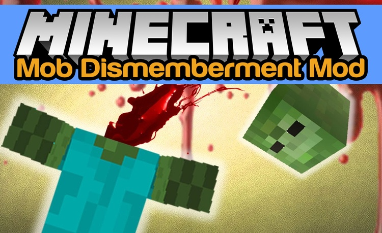 mob-dismemberment-mod-1-11-21-10-2-for-minecraft Mob Dismemberment Mod 1.11.2/1.10.2 for Minecraft