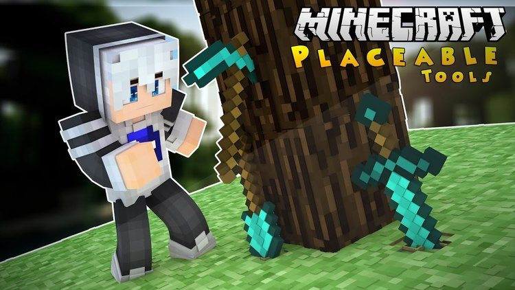 placeable-tools-mod-for-minecraft-1-11-21-10-2 Placeable Tools Mod for Minecraft 1.11.2/1.10.2
