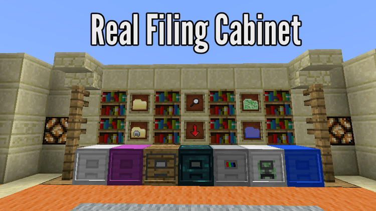 real-filing-cabinet-mod-1-11-21-10-2-for-minecraft Real Filing Cabinet Mod 1.11.2/1.10.2 for Minecraft