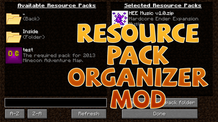 resourcepack-organizer-mod-1-11-21-10-2-for-minecraft Resourcepack Organizer Mod 1.11.2/1.10.2 for Minecraft