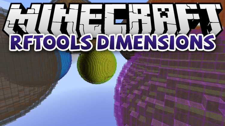 RFTools Dimensions mod for minecraft logo