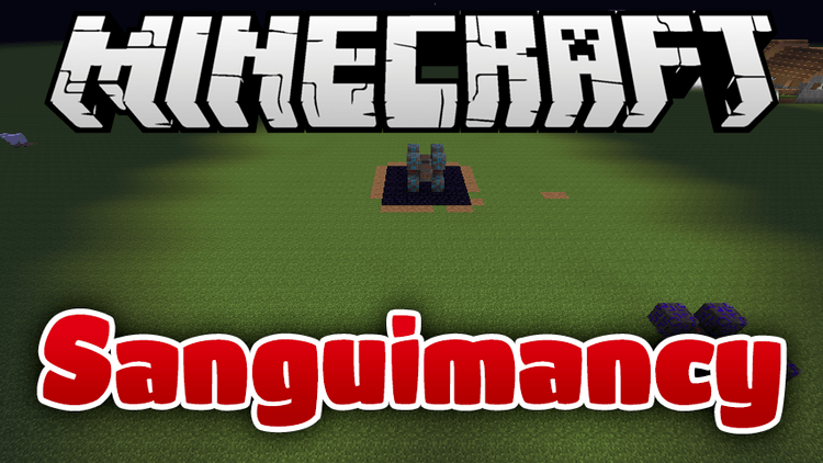 sanguimancy mod for minecraft logo