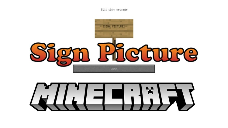 sign-picture-mod-1-11-21-10-2-for-minecraft Sign Picture Mod 1.11.2/1.10.2 for Minecraft