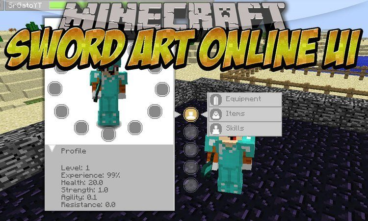 sword-art-online-ui-mod-for-minecraft-1-11-21-10-2 Sword Art Online UI Mod for Minecraft 1.11.2/1.10.2