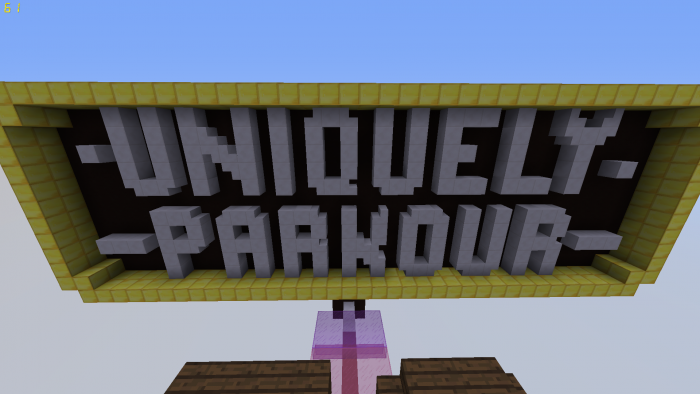 uniquely-parkour-map-for-minecraft-1-11-2 Uniquely Parkour Map for Minecraft 1.11.2