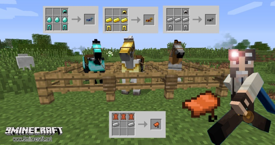1493697481_92_craftable-horse-armour-and-saddle-mod-1-11-21-10-2 Craftable Horse Armour and Saddle Mod 1.11.2/1.10.2